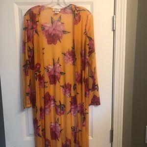 Floor length Large Yellow Kimono